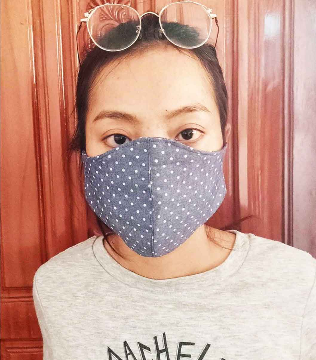 Reusable organic cotton face mask sustainable fashion TONLE
